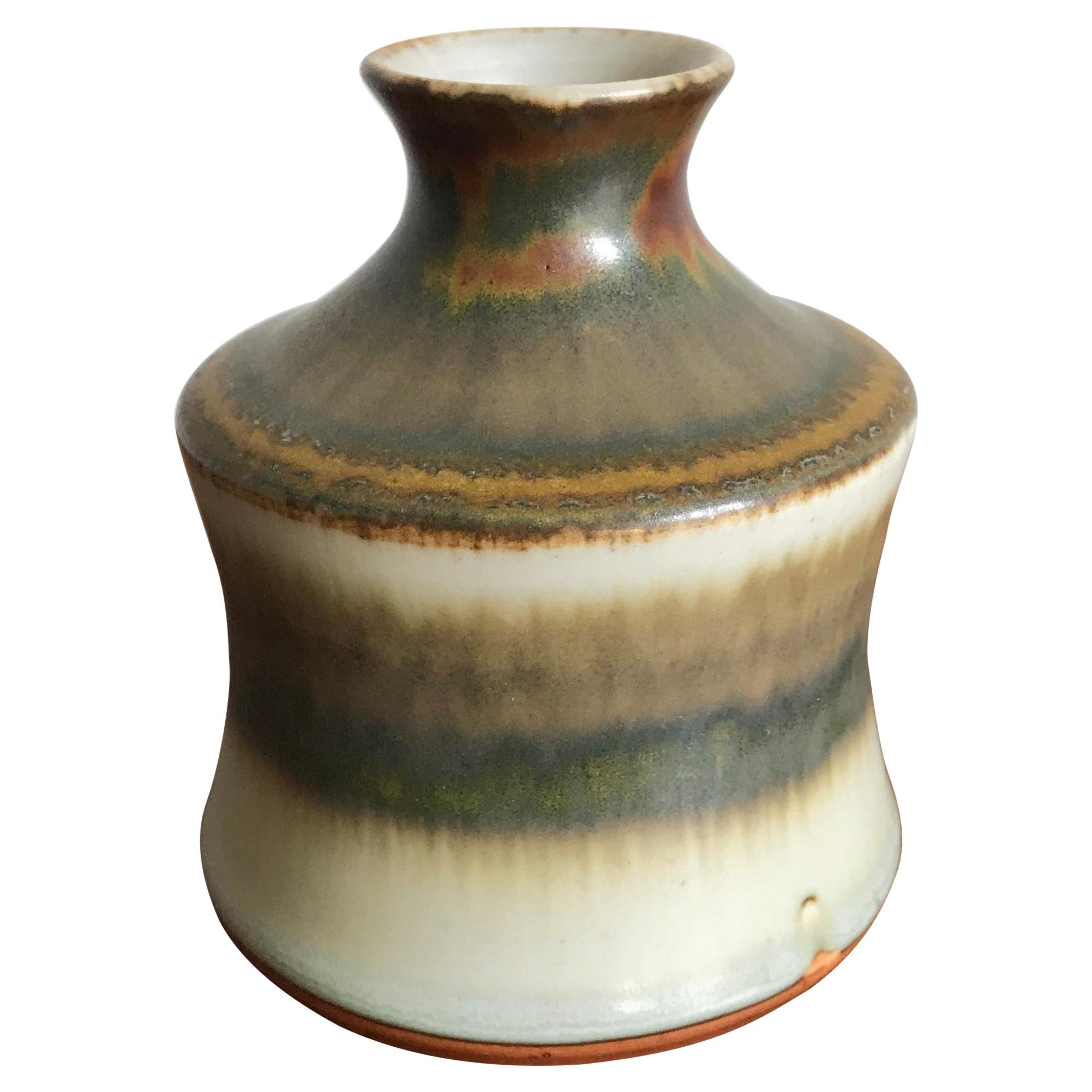 John Andersson for Höganäs Stengods Scandinavian Midcentury Ceramic Vase, 1960s