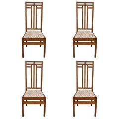 Hague School Art Deco Set of 4 Dining Chairs