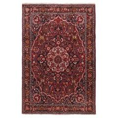 Vintage Persian Baktiari Rug, circa 1940  6'9 x 10'1