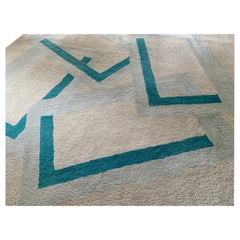 Mid-Century Modern Tisca Hand Made in France Ettore Sotsass Fine Wool Carpet