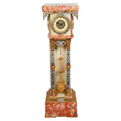 French Renaissance Style Marble Long-Case Clock, 19th Century