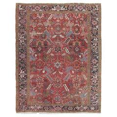 Vintage Persian Heriz Rug, circa 1940  7'5 x 9'8