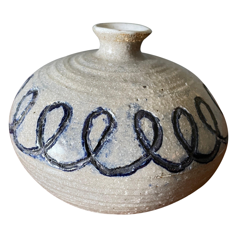 Vintage Studio Crafted Ceramic Vase, circa 1970s