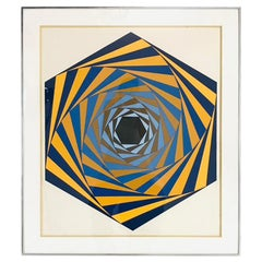 """Victor Vasarely """"Los Angeles"""" Serigraph, Signed and Numbered"""