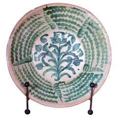 Spanish Tin-Glazed Earthenware Pottery Oversized Basin or Lebrillo