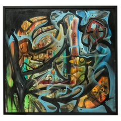 Large Abstract Painting by Mike Kranz