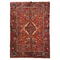 Vintage Persian Heriz Rug, 5' x 6'2