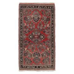 Vintage Persian Sarouk Rug, 2'2 x 3'10