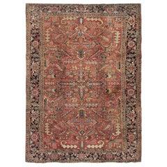 Vintage Persian Heriz Rug,  7'9 x 11'