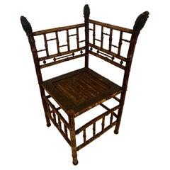 Marvelous Bamboo Antique Corner Chair
