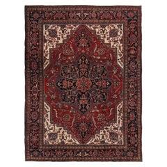 Vintage Persian Heriz Rug  8'8 x 11'4