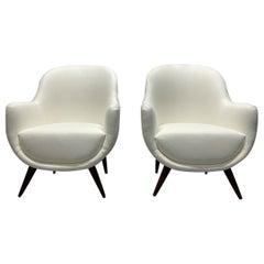 Pair of Mid-Century Modern Italian Style Lounge Chairs