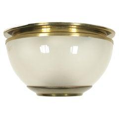 Lamp Luigi Caccia Dominioni Brass Glass, Italy, 1960s