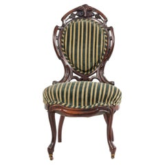 American Victorian Laminated Striped Side Chair