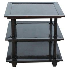 Barbara Barry Contemporary American Three Tiered Mahogany Table