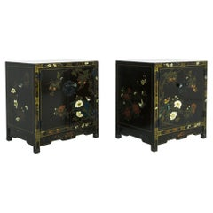 1960s Chinese Nightstands, a Pair