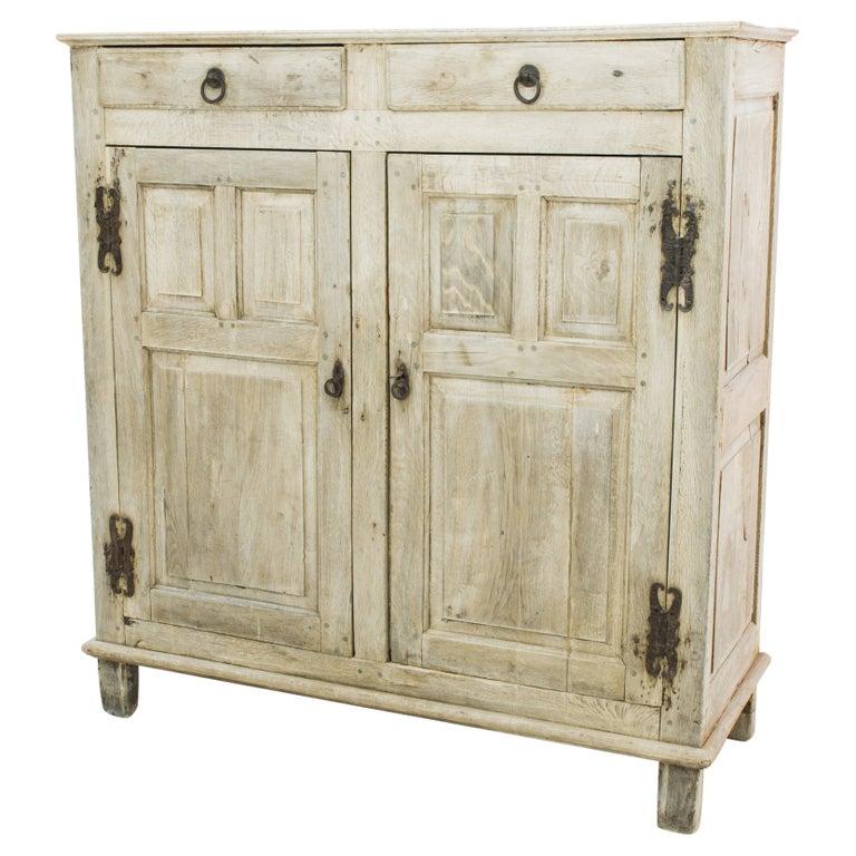 1860s Belgian Oak Buffet For Sale