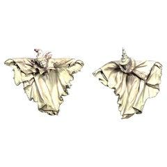 Victorian Royal Doulton Burslem Porcelain Harlequin Figures