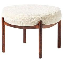 Custom Made Sheepskin Covered Ottoman