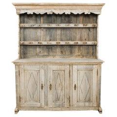 1880s French Bleached Oak Dresser