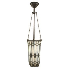 American Mission Tiffany Beaded Cone Chandelier