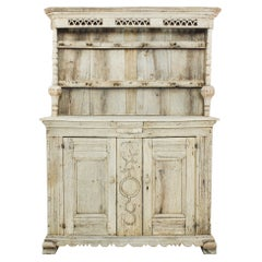 1800s French Bleached Oak Buffet