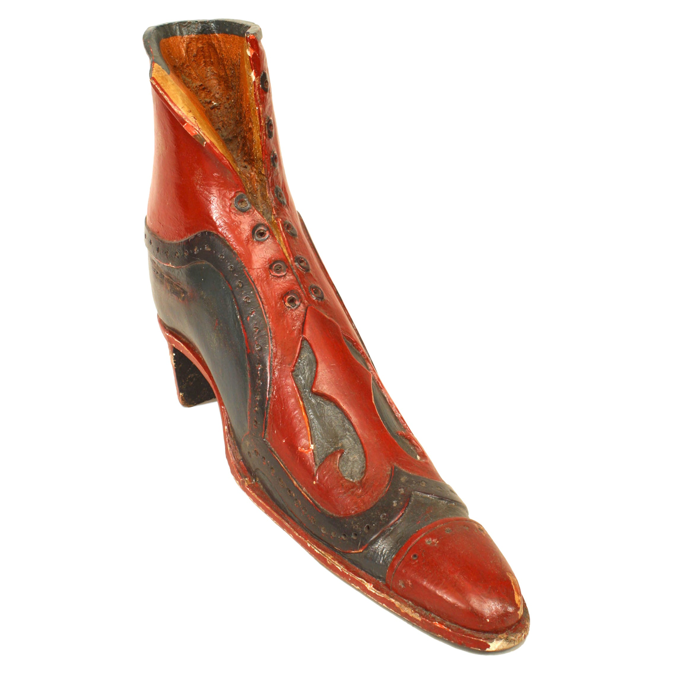 English Victorian Painted Shoemaker's Boot Sign
