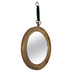 Brass Mid-Century Italian Circular Mirror