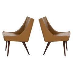 Pair of Milo Baughman Slipper Chairs for Thayer Coggin