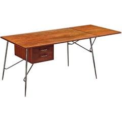 Børge Mogensen for Søborg Desk in Teak and Steel