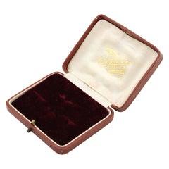 Antique Victorian Leather and Velvet Tie Clip Jewelry Box, Circa 1890's