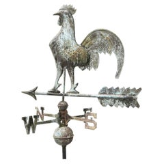 English Reclaimed Full Bodied Copper Cockerel Weathervane