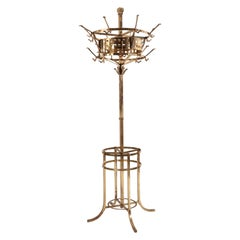 English Aesthetic Movement Brass Hat Stand