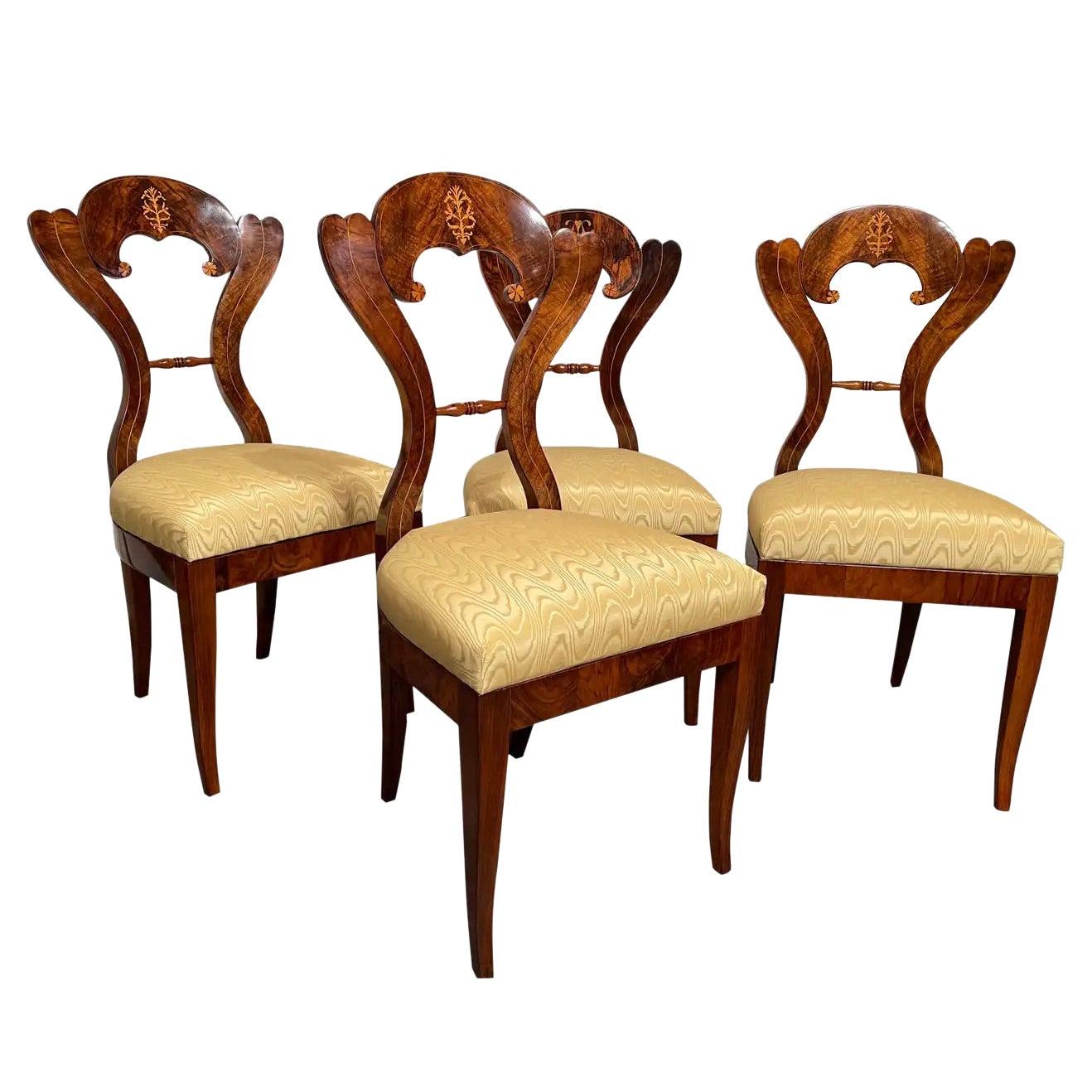 Set of Four Biedermeier Chairs, Vienna 1820, Attributed to Josef Danhauser