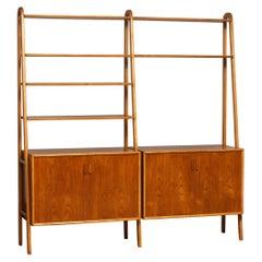 1950s Shelfs / Bookcase / Sideboard in Teak and Beech by Brantorps, Sweden