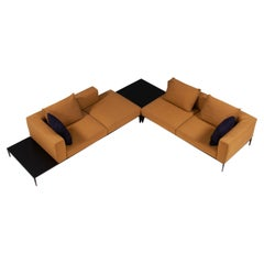 Walter Knoll by EOOS Jaan Living Corner Mustard Yellow Sofa with Tables