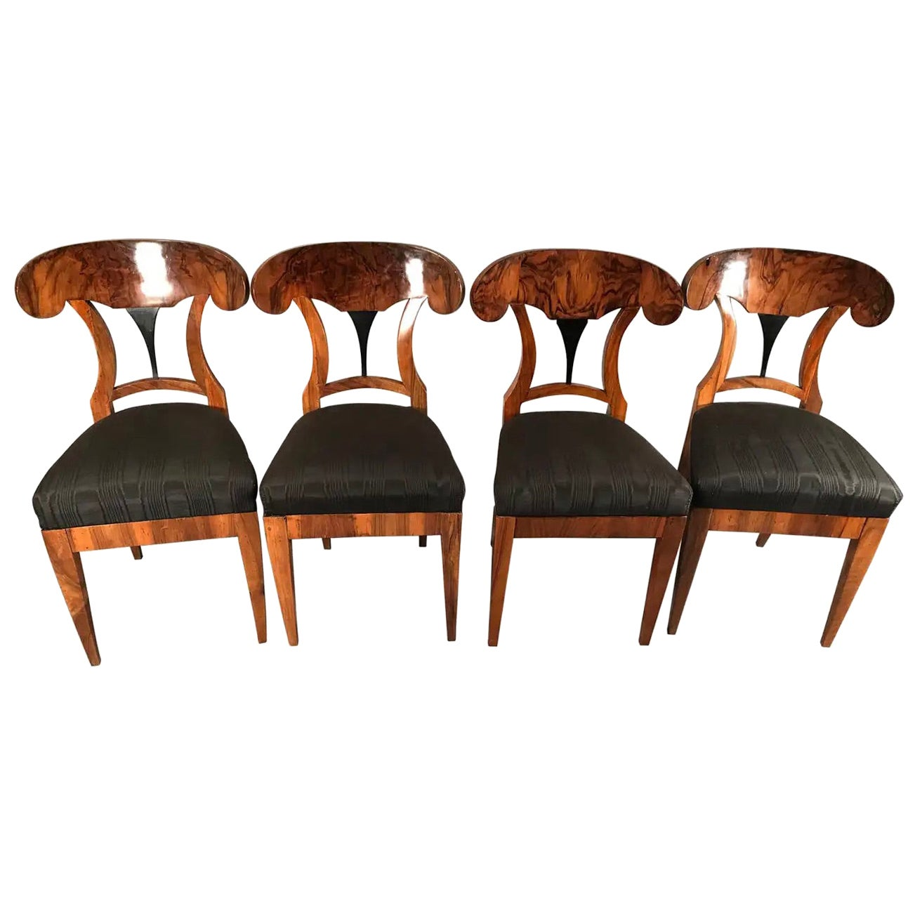 Set of Four Biedermeier Chairs, South Germany 1820
