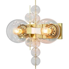 Wall Light in Brass and Glass