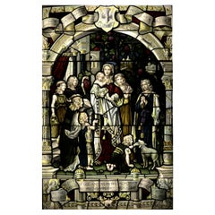 Antique Religious Stained Glass Window