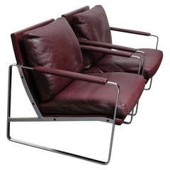 Pair of Preben Fabricius for Walter Knoll Cordovan Leather Lounge Chairs