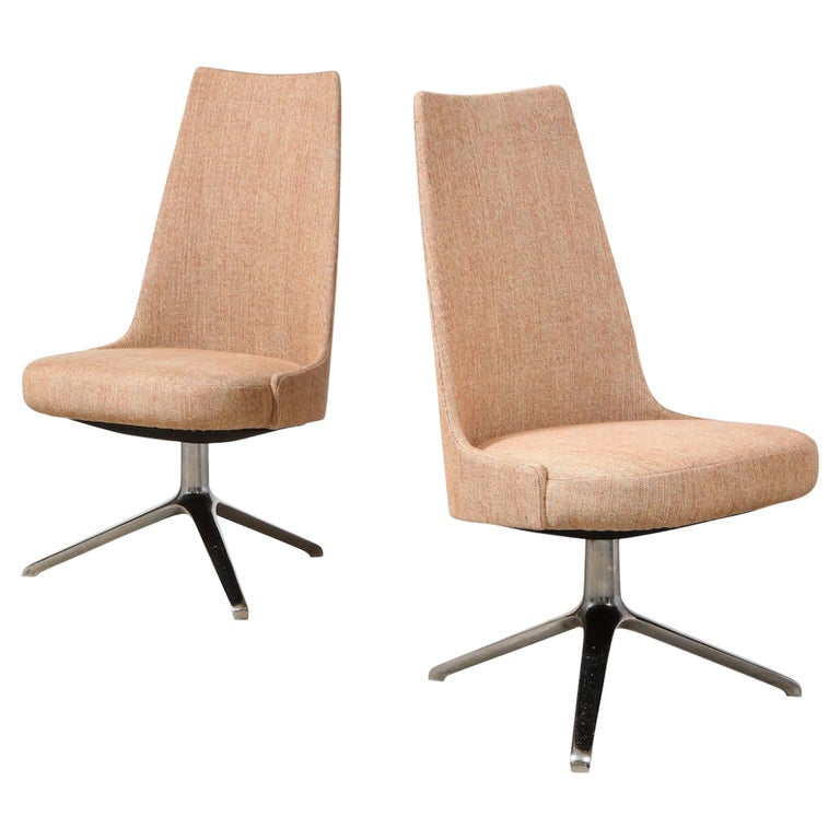High Back Swivel Chairs by Osvaldo Borsani & Valeria Fantoni For Sale