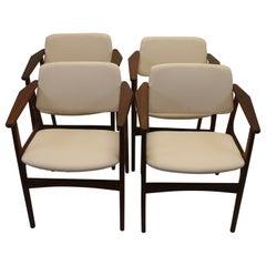 Arne Vodder Dining Room Chairs Set of 4 Denmark 60s