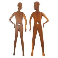 American Art Deco Pine Mannequin Displays