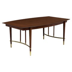 Bert England Expanding Dining Table with Brass Accents for Johnson Furniture