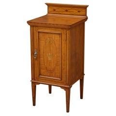 Superb Edwardian Satinwood Bedside Cabinet