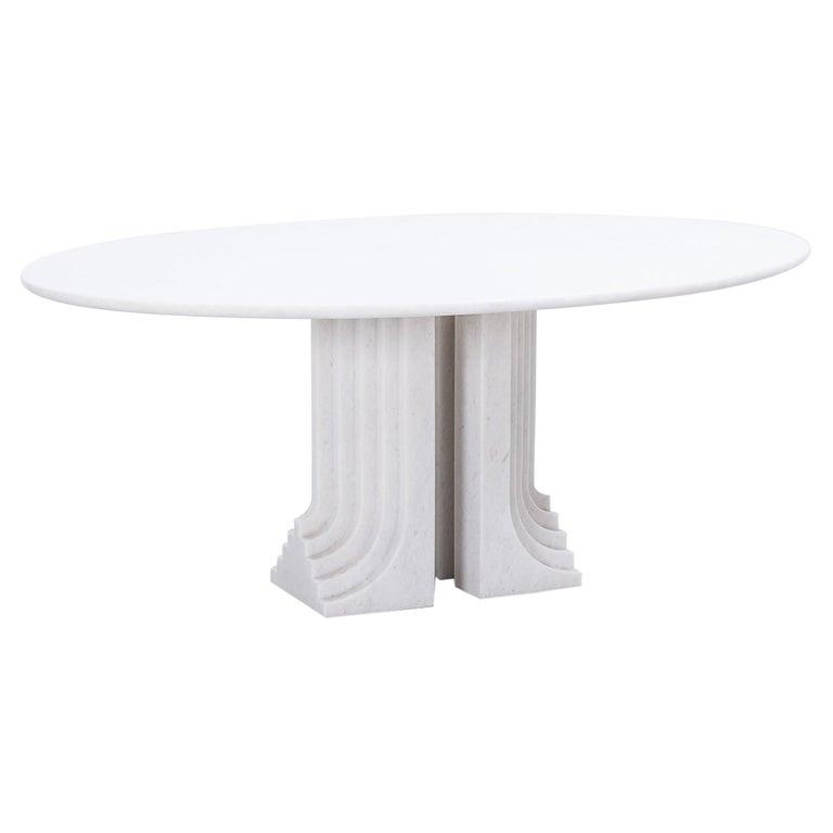 Carlo Scarpa White Naxos Marble Samo Table for Simon, Italy, 1970 For Sale