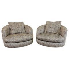 Milo Baughman Oversized Lounge Chairs, Thayer Coggin