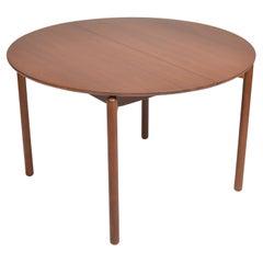 Greta Grossman Round Walnut Dining Table by Glenn of California