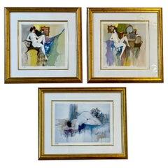 Set of Three Itzchak Tarkay Serigraphs of Nudes