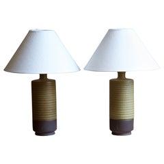 Gunnar Nylund, Table Lamps, Glazed Stoneware, Rörstand, Sweden, 1950s